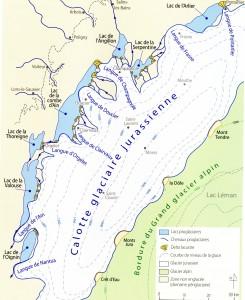 Calotte glacière jurassienne -20 000 ans